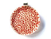 Red Poddy Vine - Large Round Glass Pendant