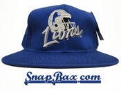 Image of Vintage Deadstock Detroit Lions Helmet Script Snapback hat Cap