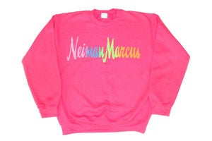 Image of Neiman Marcus &quot;Neon Pink&quot; Crewneck