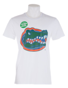 Image of FLORIDA GATORS UNISEX WHITE GLOWING COLORS TEE