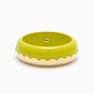 Image of Donut Bangle | Acid Yellow + Golden