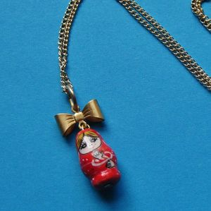Image of Lucky Doll Charm Necklace (Various Colours)