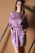 Image of Pink Animal Print Dress