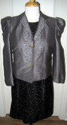 Image of Ports silver blazer with puffed shoulders NWT SZ 6 NOW 60% off