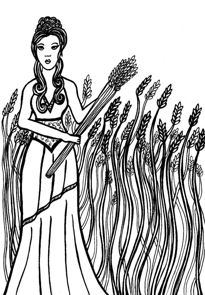 demeter greek goddess drawing - photo #21