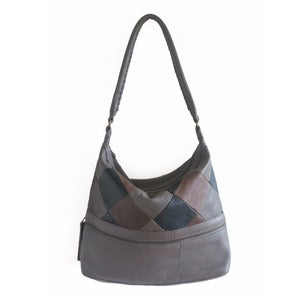 Image of MENKU Handbag in Patchwork Leather