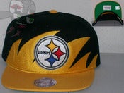 Image of Pittsburgh Steelers Shark Tooth Yellow/Black Snapback Hat Cap