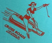 Image of Cross Roads Vintage Pin-Up Blue T-Shirt: Women's