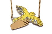 Image of Bird in the Hand Necklace