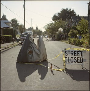 Image of Street Closed...because fish head skate jam BBQ block party