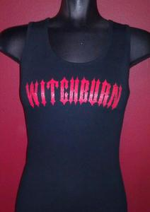 Image of Ladies Red Witchburn Logo Tank Top