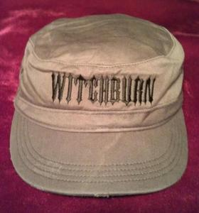 Image of Witchburn Distressed Military Hat (Olive)