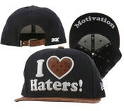 "Image of NEW! DGK ""I Love Haters"" Ostrich Snapback Hat Collection"
