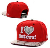 "Image of NEW! DGK ""I Love Haters"" Snake Snapback Hat Collection"