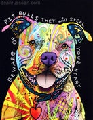 Image of Beware Of Pit Bulls PRINT
