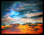 Image of Stormy Mountain Painting-16x20 Fine Art Canvas Print