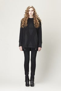 Image of BLACK DIAMOND CHAIN SWEATER