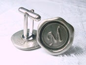 Image of NEW monogram wax seal stamp cuff-links By Ritzy Misfit