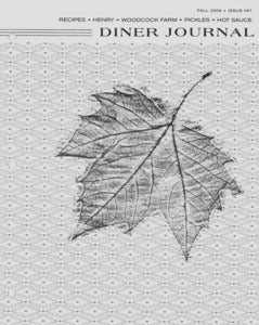 Photocopy of Diner Journal No. 1