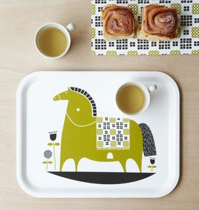 Image of rocking horse birchwood tray