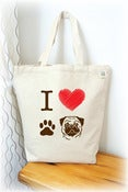 Image of I love Pug Tote