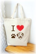 Image of I love Dalmatian Tote