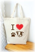 Image of I love Boston Terrier Tote