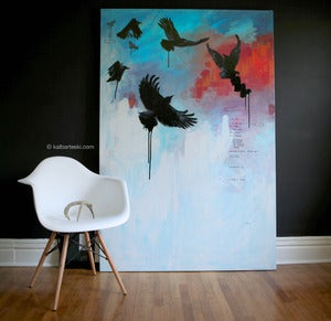 Image of CIRCLING CROWS painting