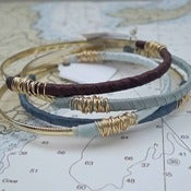 Image of Ribbon Wrapped Vintage Bangle