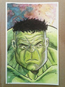 Image of Original: Hulk Watercolor