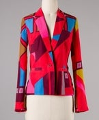 Image of Abstract multicolored Blazer