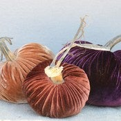 Image of Velvet Plush Pumpkin Fall Jewels Trio
