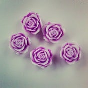 Image of PURPLE ROSE BUTTON COVERS