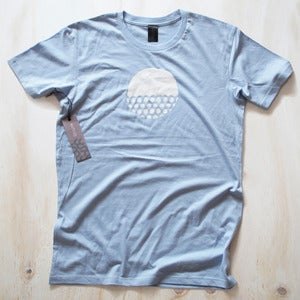 Image of Mens tee - Sky blue Owlesque