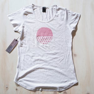 Image of Womens tee - White Owlesque