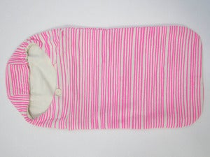 Image of Baby Cocoon Neon Pink Stripes