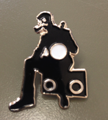 Image of Mr.B The Gentleman Rhymer Silhouette Badge