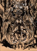 "Image of SOLD The Mothman ""Indrid Cold"" Ink Drawing"