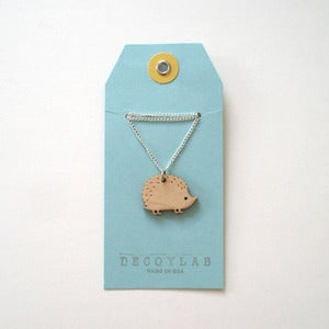 Image of Wood Hedgehog Pendant