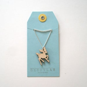 Image of Wood Fawn Pendant