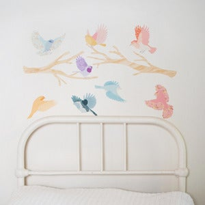 Image of Flying Friends Fabric Wall Stickers
