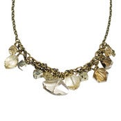 Image of stalactite collar necklace with pyrite