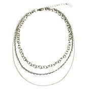 Image of osprey chain necklace: antique silver