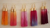 Image of DIP DYED TASSEL EARRINGS