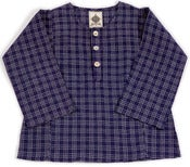 Image of kurta-blueplaid