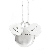 Image of Silver The Moon, Well-Being, and No Regrets Necklace