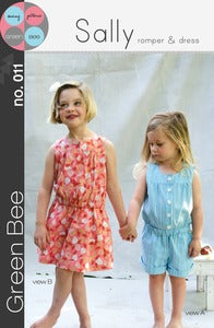Image of Sally Romper and Dress Sewing Pattern