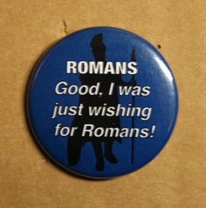 "Image of Good Romans 1.5"" Pinback Button"