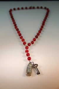 "Image of New Handmade Necklaces! - ""RedRosie"" - Red Coral Neckace"