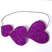 Image of Loverdose: Glitter Heart Bandeau